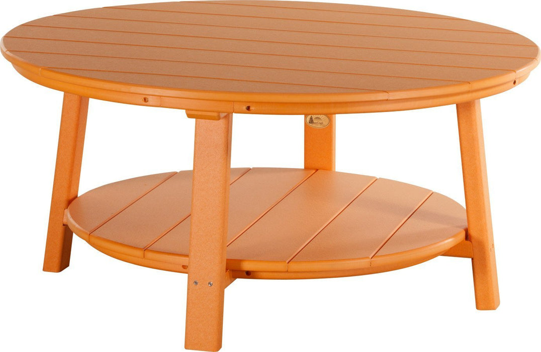 LuxCraft LuxCraft Recycled Plastic Deluxe Conversation Table Tangerine Accessories PDCTT