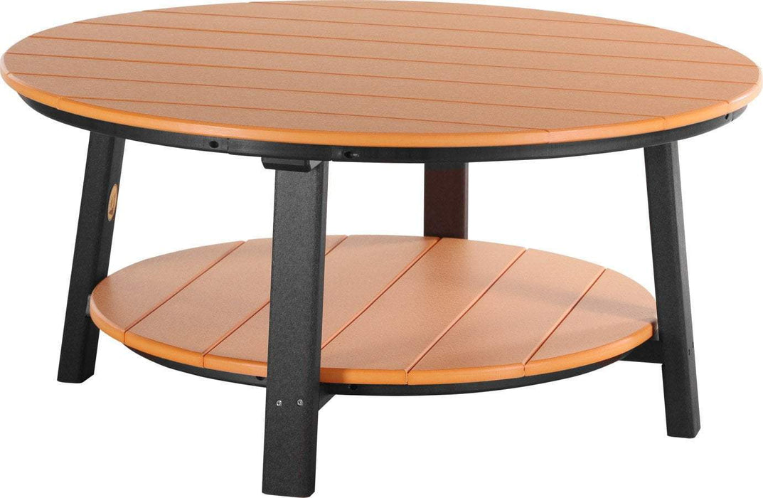 LuxCraft LuxCraft Recycled Plastic Deluxe Conversation Table Tangerine on Black Accessories PDCTTB