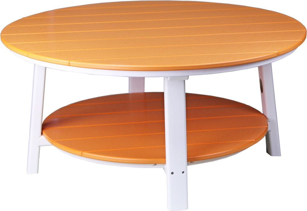 LuxCraft LuxCraft Recycled Plastic Deluxe Conversation Table Tangerine on White Accessories PDCTTW