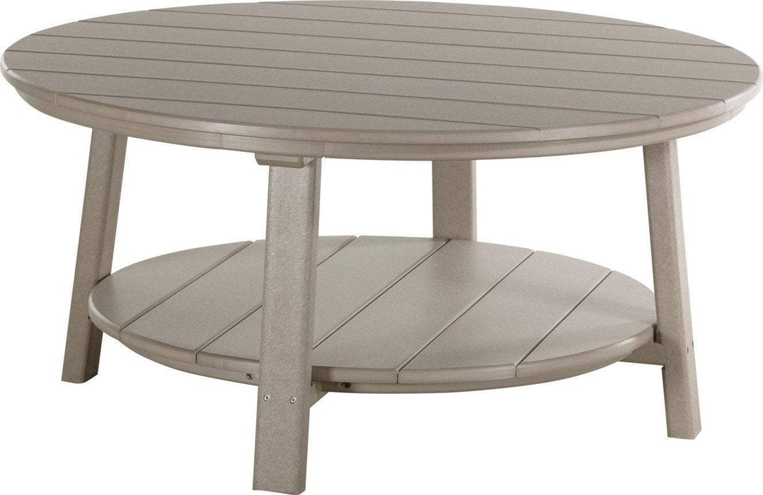 LuxCraft LuxCraft Recycled Plastic Deluxe Conversation Table Weatherwood Accessories PDCTWW
