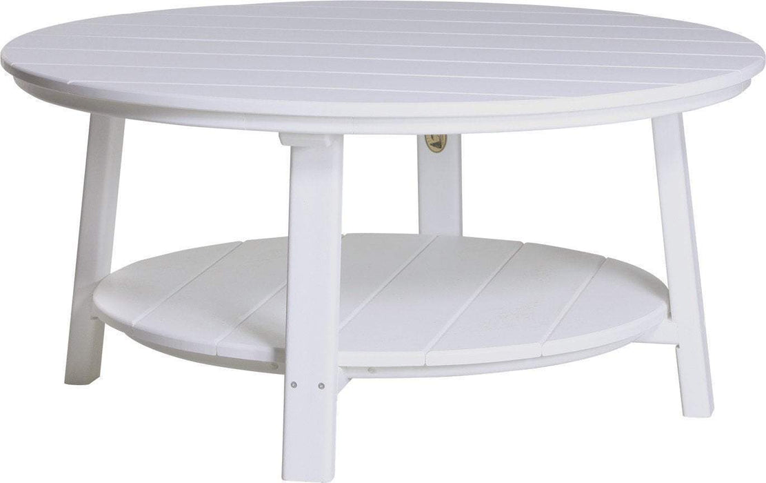 LuxCraft LuxCraft Recycled Plastic Deluxe Conversation Table White Accessories PDCTW