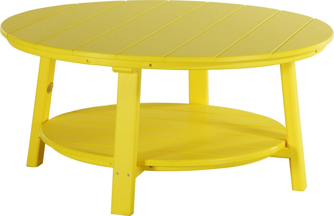 LuxCraft LuxCraft Recycled Plastic Deluxe Conversation Table Yellow Accessories PDCTY