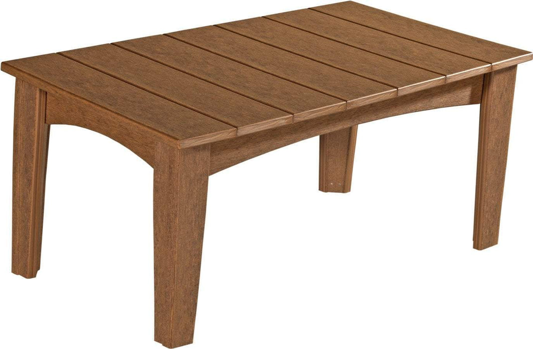 LuxCraft LuxCraft Recycled Plastic Island Coffee Table Antique Mahogany Accessories ICTAM