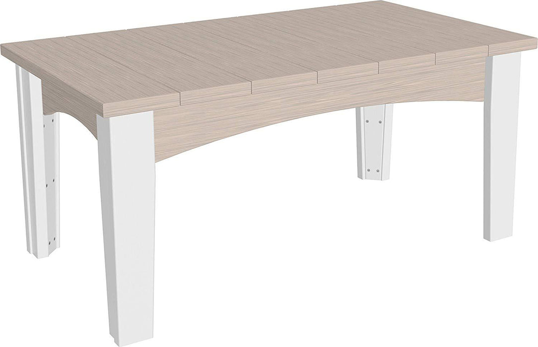 LuxCraft LuxCraft Recycled Plastic Island Coffee Table Birch On White Accessories ICTBIW