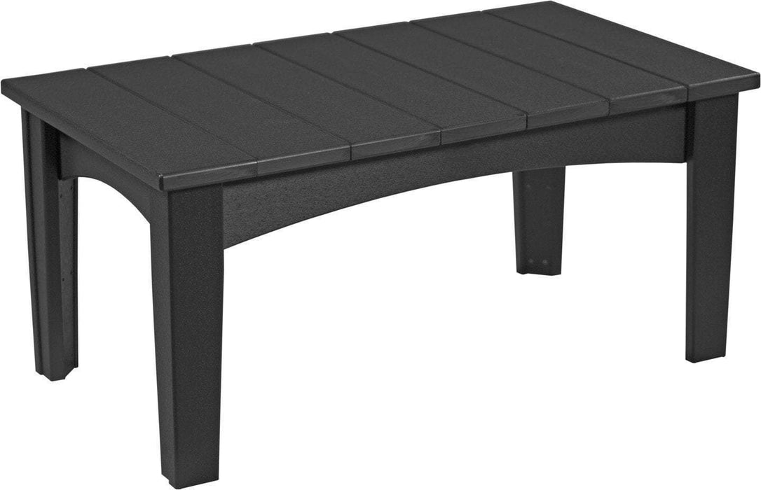 LuxCraft LuxCraft Recycled Plastic Island Coffee Table Black Accessories ICTBK
