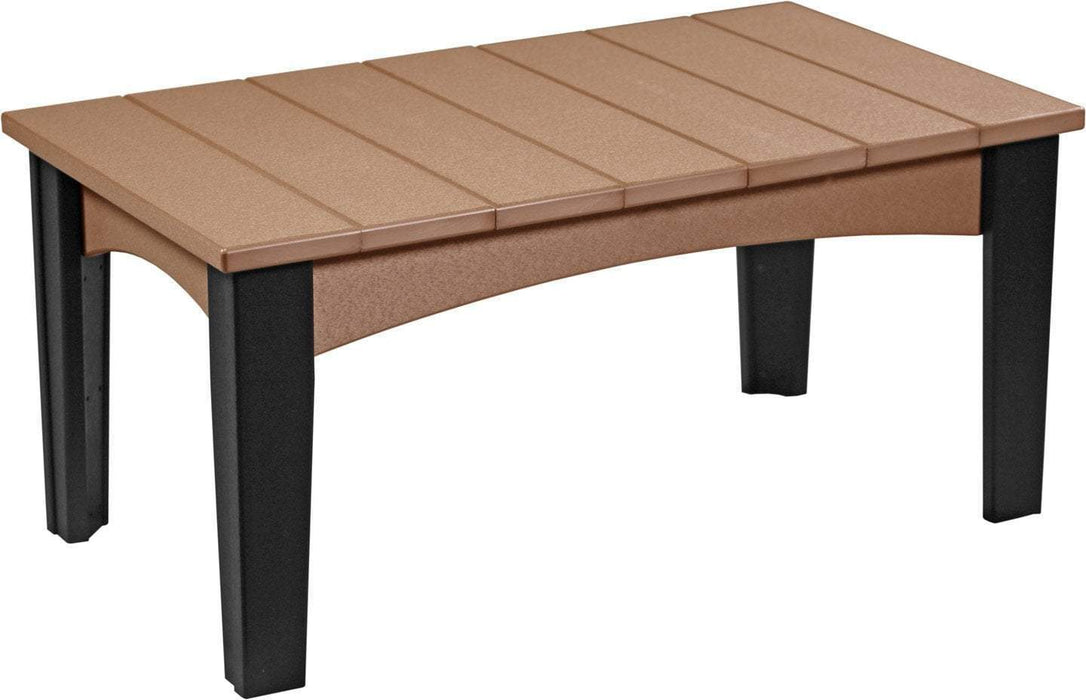 LuxCraft LuxCraft Recycled Plastic Island Coffee Table Cedar on Black Accessories ICTCB