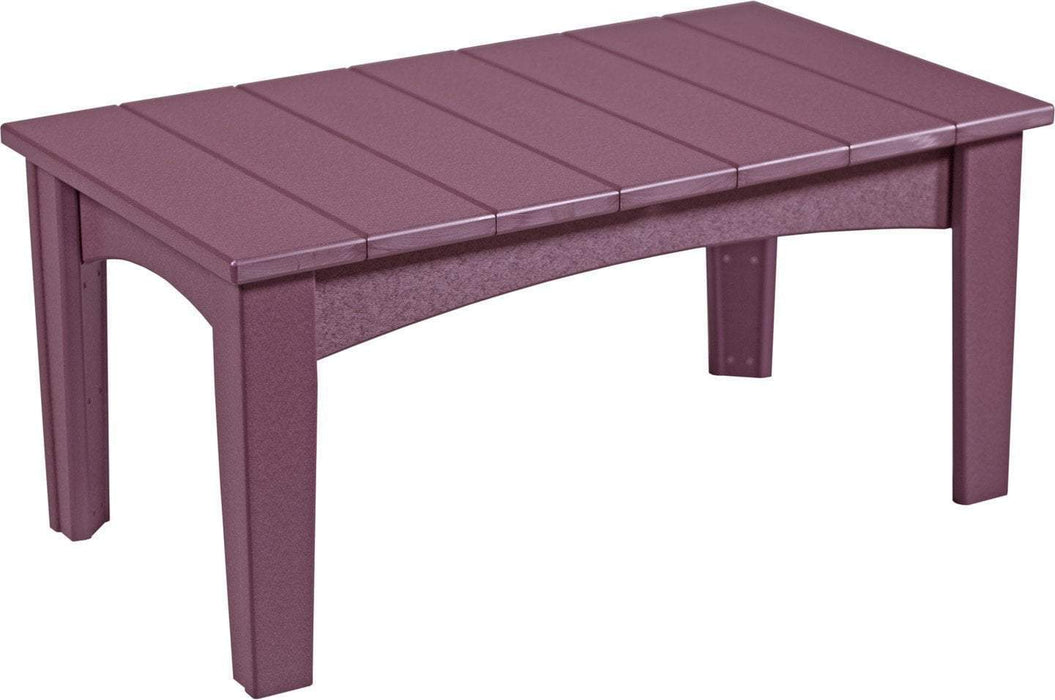 LuxCraft LuxCraft Recycled Plastic Island Coffee Table Cherry Accessories ICTCW