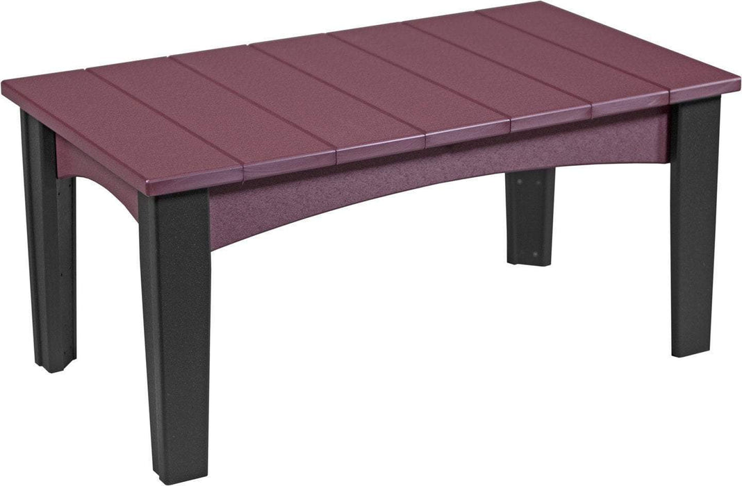 LuxCraft LuxCraft Recycled Plastic Island Coffee Table Cherrywood on Black Accessories ICTCWB