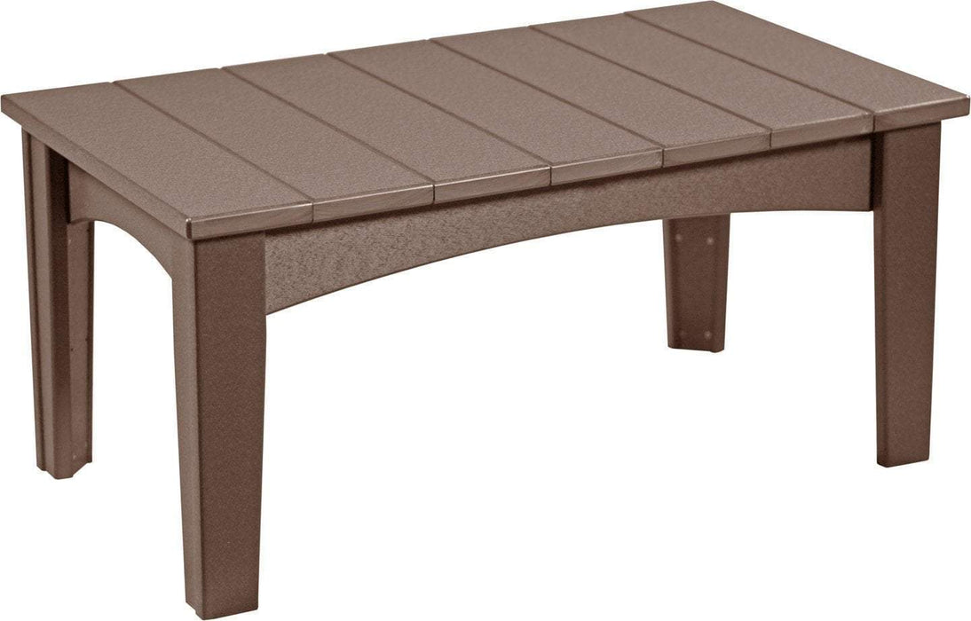 LuxCraft LuxCraft Recycled Plastic Island Coffee Table Chestnut Brown Accessories ICTCBR