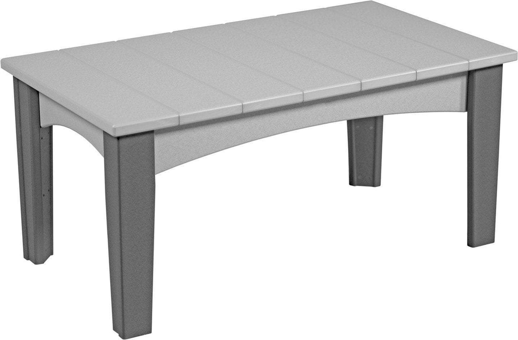 LuxCraft LuxCraft Recycled Plastic Island Coffee Table Dove Gray on Slate Accessories ICTDGS