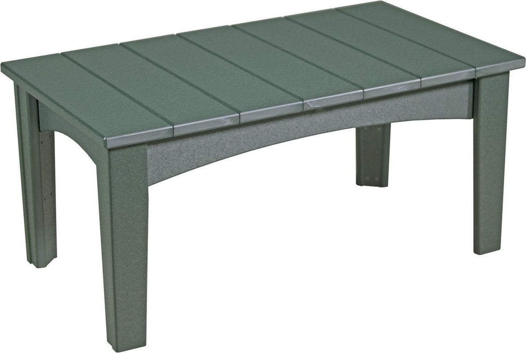 LuxCraft LuxCraft Recycled Plastic Island Coffee Table Green Accessories ICTG