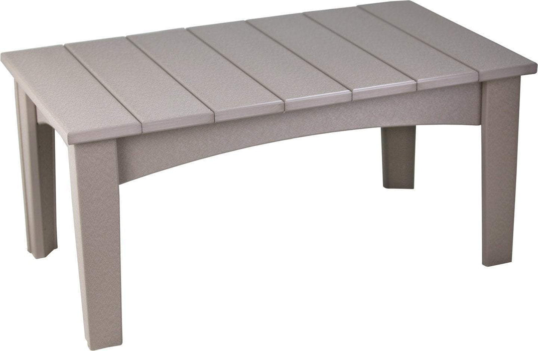 LuxCraft LuxCraft Recycled Plastic Island Coffee Table Weatherwood Accessories ICTWW
