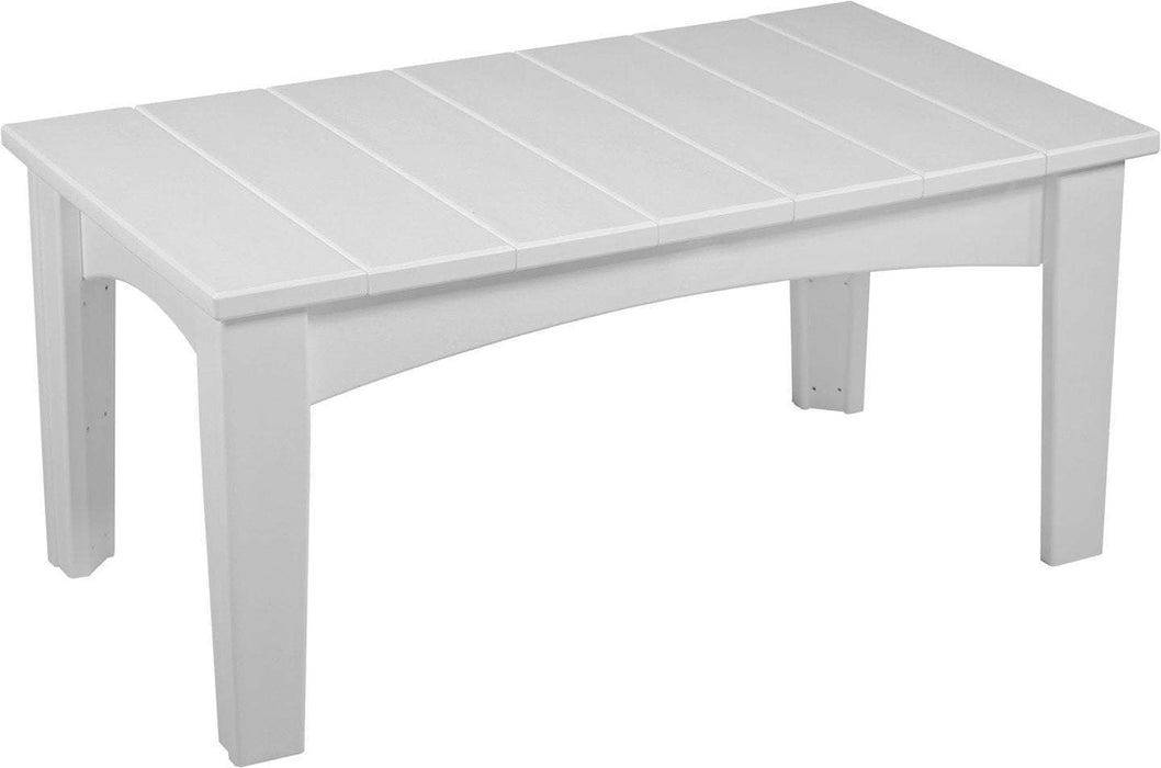 LuxCraft LuxCraft Recycled Plastic Island Coffee Table White Accessories ICTW