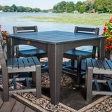 LuxCraft LuxCraft Recycled Plastic Island Dining Table Tables