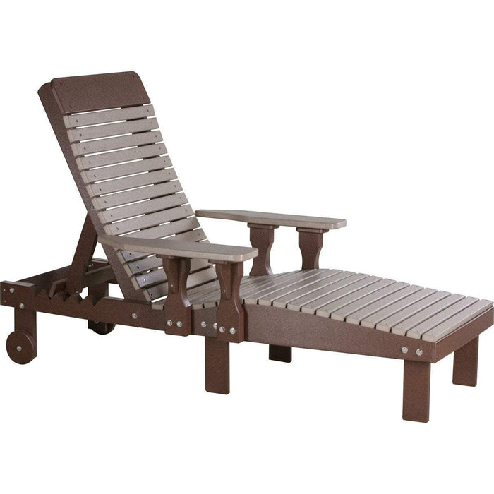 LuxCraft LuxCraft Recycled Plastic Lounge Chair Chestnut Brown Adirondack Deck Chair PLCCBR