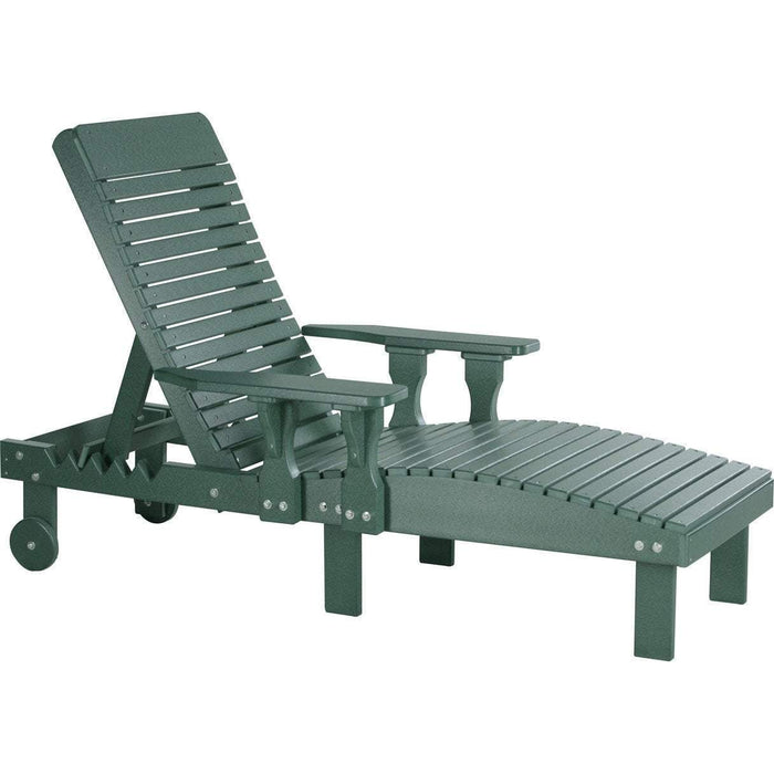 LuxCraft LuxCraft Recycled Plastic Lounge Chair Green Adirondack Deck Chair PLCG