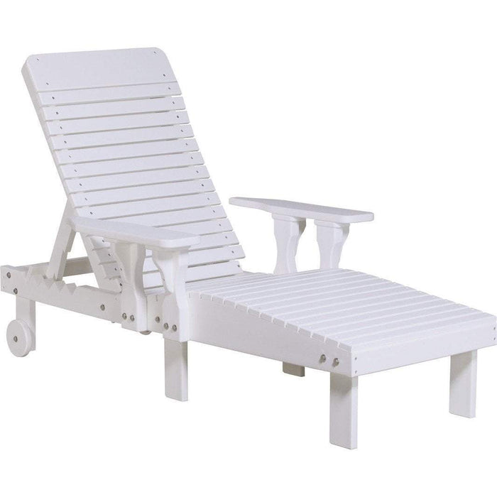 LuxCraft LuxCraft Recycled Plastic Lounge Chair White Adirondack Deck Chair PLCW