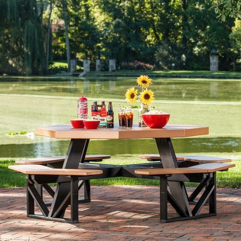 LuxCraft LuxCraft Recycled Plastic Octagon Picnic Table Tables