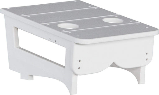 LuxCraft LuxCraft White Recycled Plastic Center Table Cupholder White Accessories PCTAW