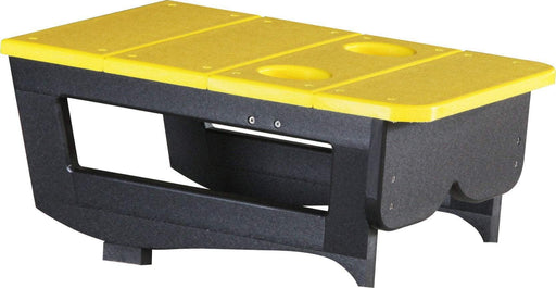 LuxCraft LuxCraft Yellow Recycled Plastic Center Table Cupholder Yellow on Black Accessories PCTAYB