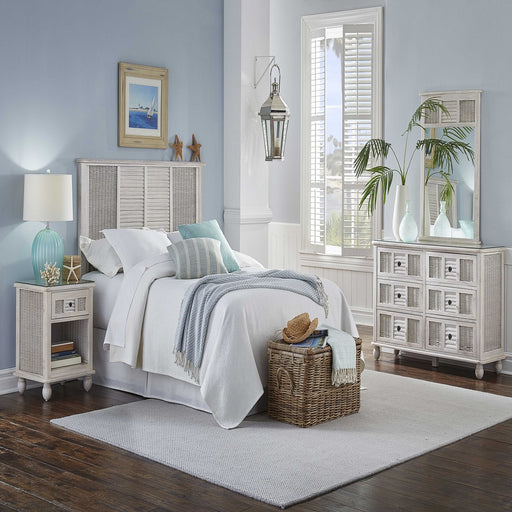 Panama Jack Coastal Breeze 4 PC Queen Bedroom Set w/Glass Queen Bedroom Set 1219-5002-WW-4BQ-GL 193574000000