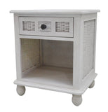 Panama Jack Coastal Breeze One Drawer Nightstand w/Glass Nighstand 1219-5001-WW-GL 193574110234