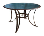 "Panama Jack Coco Palm Round 48"" Tempered Glass Dining Table Dining Table 910-3184-BRZ-B 193574060898"