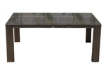 Panama Jack Fiji Rectangular Woven Dining Table w/glass Dining Table 901-3347-ATQ-RT-GL 811759029767