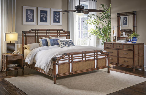 Panama Jack Palm Cove 6 PC Complete King Bedroom Set King Bedroom Sets 1102-5647-ATQ-6KT-GL 811759029699
