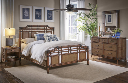 Panama Jack Palm Cove 6 PC Complete Queen Bedroom Set Queen Bedroom Sets 1102-5643-ATQ-6QT-GL 811759029682