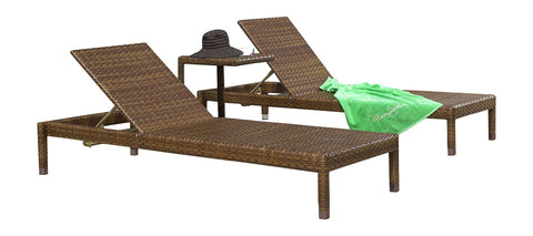 Panama Jack Panama Jack 3 PC St Barths Chaise Lounge Set Without Cushion Chaise Lounge PJO-3001-BRN-3CL 811759020467