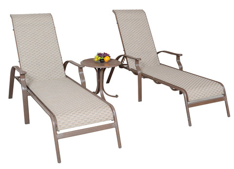 Panama Jack Panama Jack Island Breeze Sling 3 PC Chaise Lounge set No Thanks Chaise Lounge PJO-1001-ESP-3PCL 811759020221