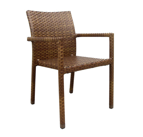 Panama Jack Panama Jack St Barths Stackable Arm Chair Without Cushion Chair PJO-3001-BRN-AC 857465002342
