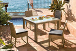 Panama Jack Rubix Square Woven Dining Table with Glass Dining Table 902-1349-KBU-SQ-GL 193574055726