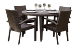 Panama Jack Soho 5 PC Round Dining Arm Chair Group with Cushions Standard Chair 903-3303-JBP-5DA-CUSH 193574082418