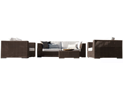 Panama Jack Soho 5 PC Sectional Deep Seating Group Standard Sectional 903-1323-JBP-5PC-GL 193574082333