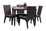 Panama Jack Soho 5 PC Square Dining Side Chair Group with Cushions Standard Chair 903-3309-JBP-5DS-CUSH 193574082388