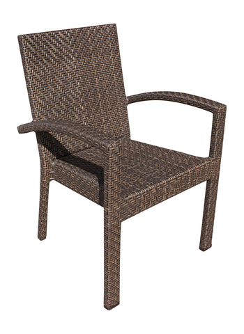 Panama Jack Soho Patio Stackable Armchair Without Chushion Chair 903-3304-JBP-A 811759025332