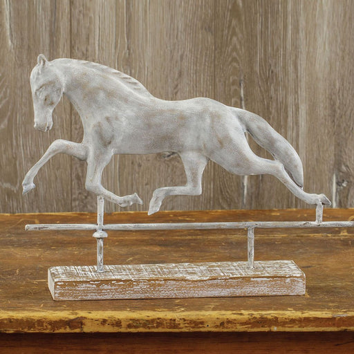 Ragon House Ragon House Horse Weathervane on Wood Base Home Decor E173005 636173596929