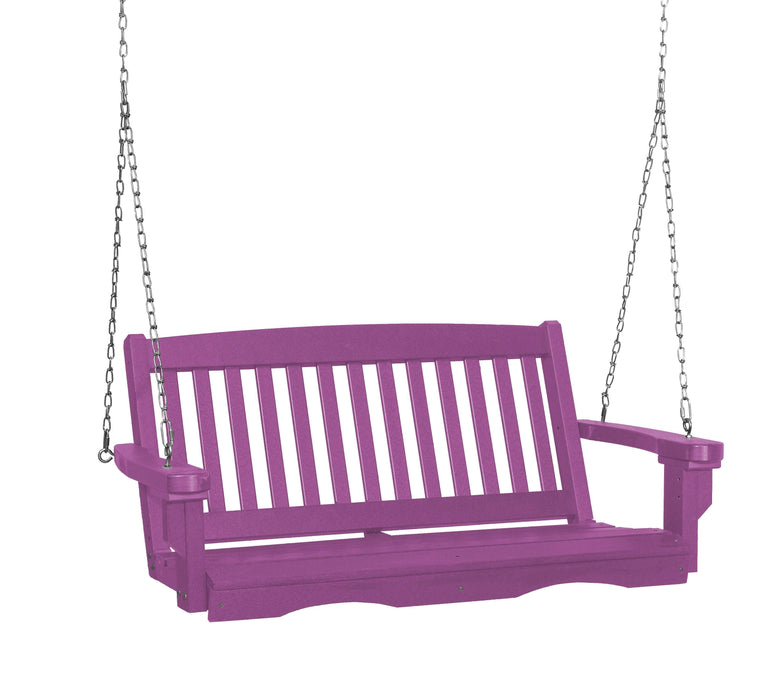 Wildridge Wildridge Classic 4 ft. Recycled Plastic Mission Porch Swing Purple Poly Porch Swing LCC-205-PU