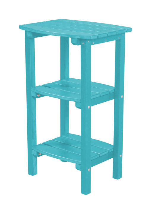 Wildridge Wildridge Classic Recycled Plastic 3 Shelf Side Table Aruba Blue Side Table LCC-221-AB