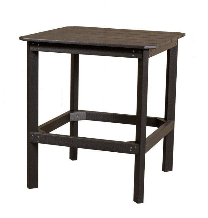"Wildridge Wildridge Classic Recycled Plastic 38"" High Dining Table Black Outdoor Table LCC-289-B"