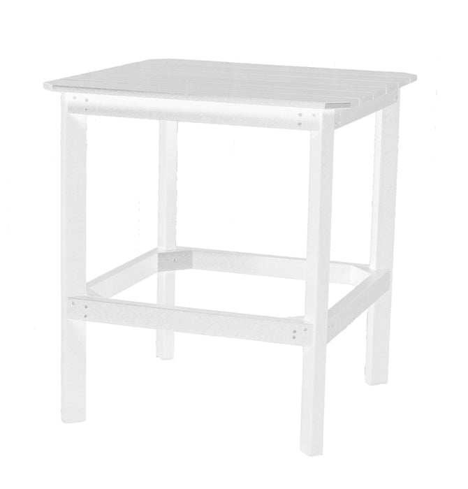 "Wildridge Wildridge Classic Recycled Plastic 38"" High Dining Table White Outdoor Table LCC-289-WH"