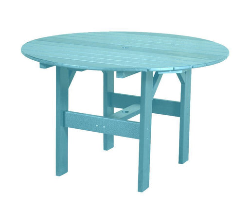 "Wildridge Wildridge Classic Recycled Plastic 46"" Round Outdoor Table Aruba Blue Outdoor Table LCC-279-AB"