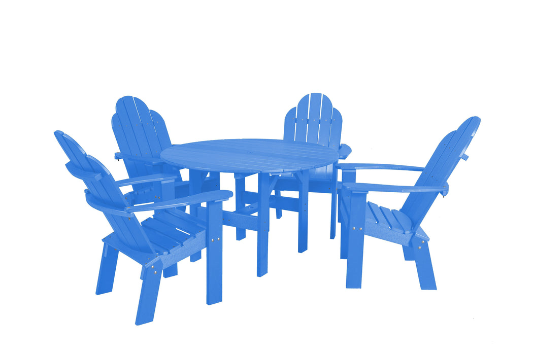 Wildridge Wildridge Classic Recycled Plastic 5 Piece Seating Set Blue Dining Sets LCC-280-BL