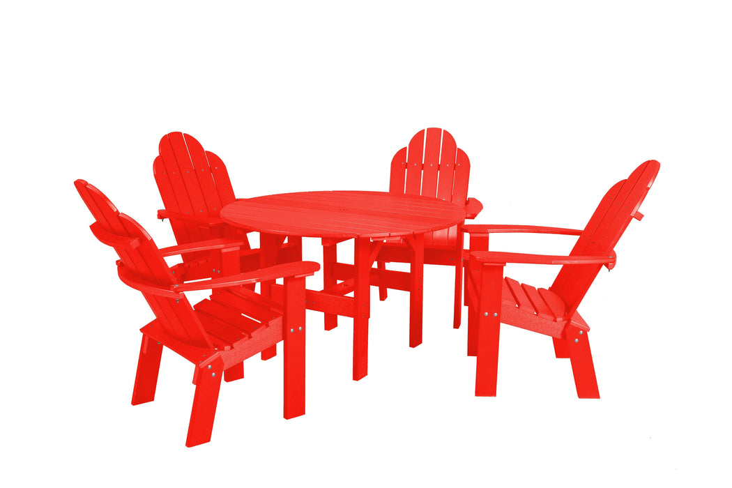 Wildridge Wildridge Classic Recycled Plastic 5 Piece Seating Set Bright Red Dining Sets LCC-280-BR