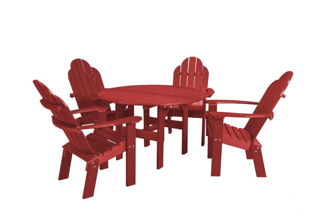 Wildridge Wildridge Classic Recycled Plastic 5 Piece Seating Set Cardinal Red Dining Sets LCC-280-CR