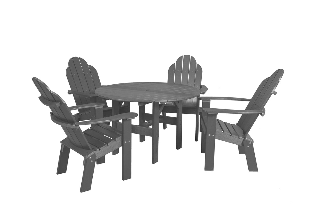 Wildridge Wildridge Classic Recycled Plastic 5 Piece Seating Set Dark Gray Dining Sets LCC-280-DG