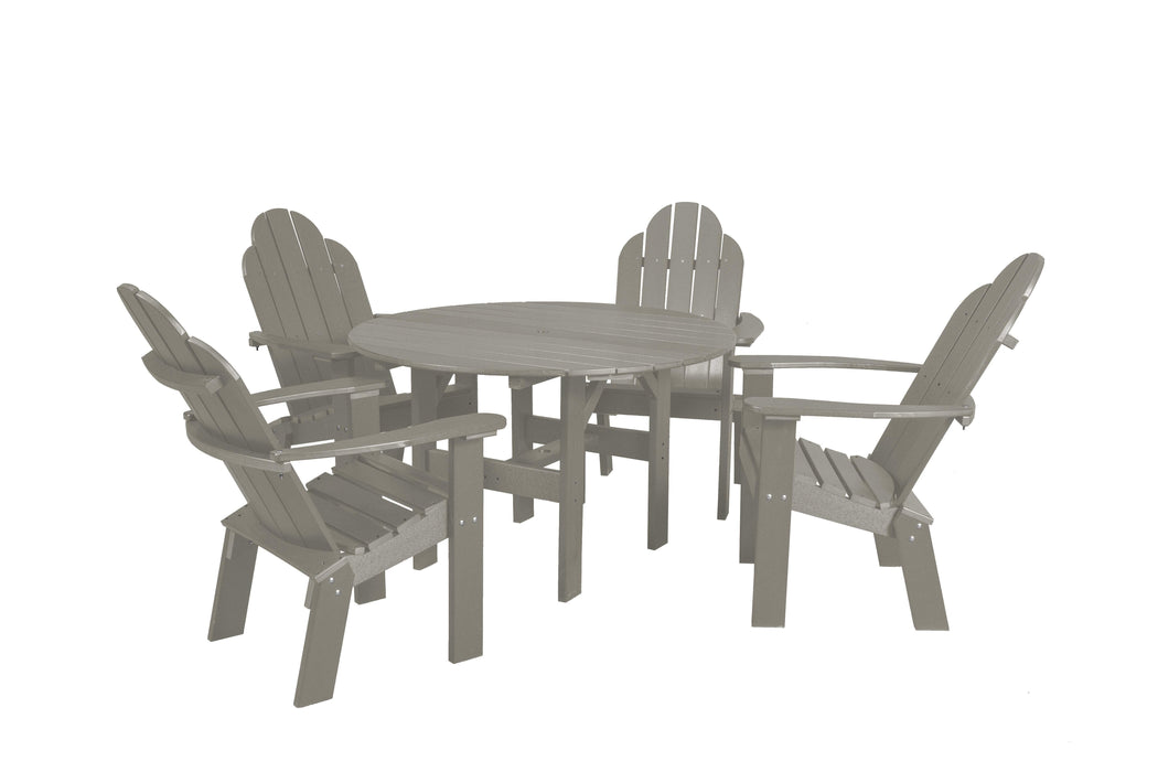 Wildridge Wildridge Classic Recycled Plastic 5 Piece Seating Set Light Gray Dining Sets LCC-280-LG
