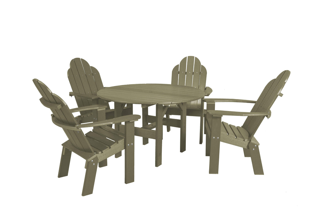 Wildridge Wildridge Classic Recycled Plastic 5 Piece Seating Set Olive Dining Sets LCC-280-OL